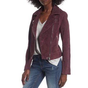 Blank NYC Purple Suede Motorcycle Jacket